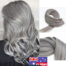 Seamless Tape in Skin Weft Remy Human Hair Extensions Grey 7A Grade 16Inch 20pcs