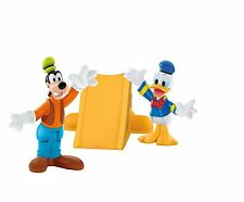 Fisher Price Mickey Mouse Clubhouse Donald & Goofy Toys Slide Figurine New