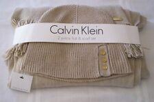 Calvin Klein 2 PC Mushroom Acrylic Hat & Scraf Set NWT