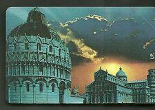 SCHEDA ITALIA NUOVA 5000 PRIVATE RESE PUBBLICHE VEDUTA DI PISA GOLDEN N.  320