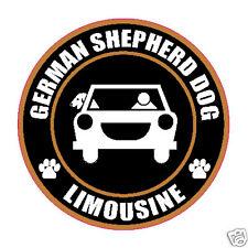 "LIMOUSINE GERMAN SHEPHERD DOG 5"" STICKER"