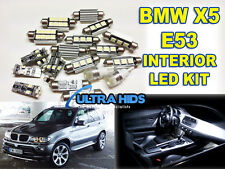 E53 X5 21 led smd interior light bulb kit footwell door puddle light mirror boot