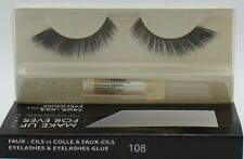 MAKE UP FOR EVER EYELASHES & EYELASHES GLUE #108 NEW IN BOX!