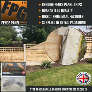 Fence Panel Grips Clips Stop Fence Panels Rattling Anti Rattle 6 Pk (1 Panel)
