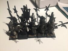 games workshop warhammer dark elf black guard metal x10 including champ and std