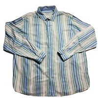 Tommy Bahama Mens Multicolor Striped Button Up Long Sleeve Shirt Size XL