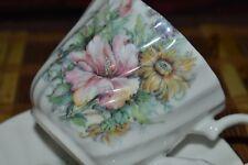 Royal Patrician Fine Bone China Tea Cup & Saucer Multi Floral Design