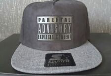 Authentic Starter Parental Advisory Casquette Réglable Noir/Gris Rare Bnwt Holiday