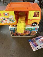 Vintage 1970's Mattel Barbie Country Camper Rv Van With Original Box