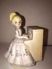 Vintage JOSEF Style Music Box Blonde Girl Playing Piano Revolving