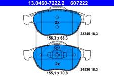 Bremsbelagsatz, Scheibenbremse für Bremsanlage Vorderachse ATE 13.0460-7222.2