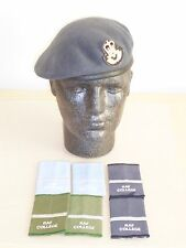 Royal Air Force Officer Beret, Badge & Rank Slides. Size 55cm. RAF.