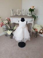 Flower Girl Christening Dress Occasion Party Bridesmaid Wedding Formal Wear UK