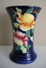 """Maling Cobalt Blue & Floral Vase, 4 3/4"""""""