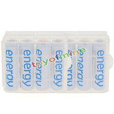 8xAA 3300mAh Energia batteria ricaricabile bianco per MP3 RC+2xdi caso