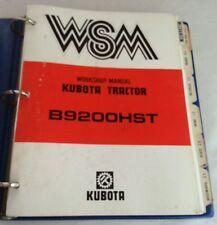 1986 KUBOTA B9200HST TRACTOR WORKSHOP SERVICE MANUAL