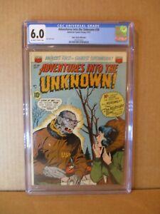 Adventures Into The Unknown 36 MILE HIGH CGC 6 ACG 1952 Werewolf C. Pedigree Gem