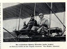 Der Schweizer Flugpionier Jucker auf dem Flugplatz Johannistal c.1913