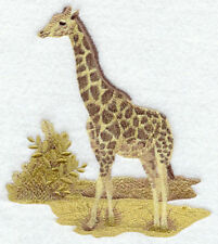 Embroidered Ladies Short-Sleeved T-Shirt - Sepia Giraffe E4301 Size S - Xxl