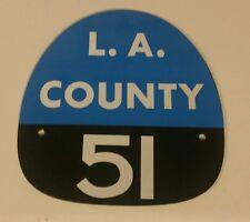 """LA COUNTY 51 """"EMERGENCY 51"""" FIRE HELMET SHIELD"""
