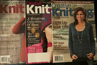 Lot Of 3 Creative Knitting Magazines- Sweaters, Hats, Christmas Stockings, Cable