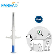 New listing Free shipping x100 12mm Fdx-B Rfid implant chip animal Microchip for pet vets