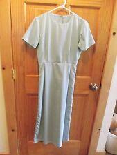 Amish Mennonite Hand Made S/S Ladies Seafoam Dress B37 EUC Plain Clothing