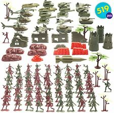 509 Pack Toy Soldiers Playset Military Army Toys Figures Tanks Battlefield War
