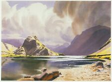LODORE AND DERWENTWATER CUMBRIA VINTAGE DOUBLE MOUNTED PRINT HEATON COOPER 1908