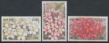 LAOS N°1429/1431**  Fleurs de frangipanier, 2001, frangipani flowers Set MNH