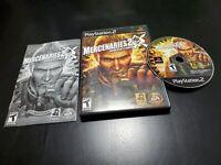 Mercenaries 2: World in Flames (Sony PlayStation 2, 2008) CIB! TESTED MINTY DISC