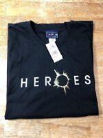 HEROES TV SHOW NBC T-Shirt HEROES Logo From NBC Studio Store Black XL