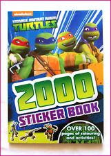 TEENAGE MUTANT NINJA TURTLES Activity Book 112pg + 2000 STICKERS & Colouring NEW