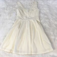 American Eagle Women's Dress Size 2 A Line Eyelet Detail Ivory