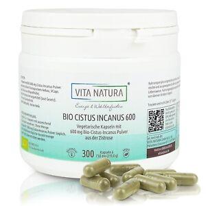 Vita Natura | Cistus Incanus Bio Kapseln  | 600 mg | 300 Stück