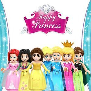 Princess 7 Minifigures Custom Set - USA SELLER