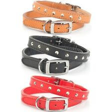 "Ancol Leather Collar Black 12"" 100110"