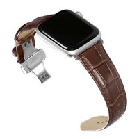 For Apple Watch Band Leather Strap 38/40/42/44mm Adapter eries1/2/3/4 iWatch