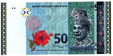 MALAYSIA RM50 SHAMSIAH 1ST PREIFX PD GEM UNC