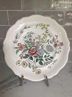 """Vintage Spode Romney Dinner Plate 10 3/4"""" Multicolor Floral Cottage Chic"""