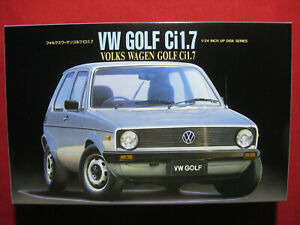 Volkswagen Golf Ci 1.7 1/24 Fujimi Japan Vintage 1990 Plastic Model Kit VW