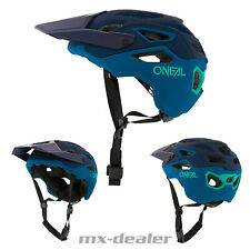 2021 ONeal Pike Solid Blau Teal Fahrrad Helm All Mountain Bike Trail MTB BMX