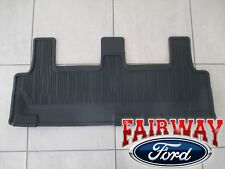 2018 thru 2019 Expedition OEM Ford Black All Weather Floor Mat 3rd Row Seat