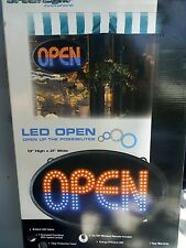 New Green Light Innovations Classic Led Open Sign 7 Function W/ Wireless Remote