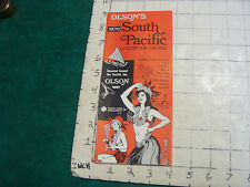 Vintage CLEAN brochure: OLSON'S 1972 South Pacific luxury air cruise PAN AM