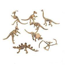 (1) 13cm LONG DINOSAUR SKELETON FIGURINE Kids Party Favours Plastic Skeleton Toy
