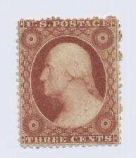 #25 3c George Washington No gum unused nice near 4 margin copy good color