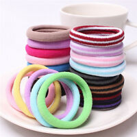 10pcs Women Elastic Hair Ties Band Ropes Ring Ponytail Holder Accessories