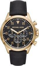 Michael Kors MK8618 Gage Chronograph Black Leather Men's Watch