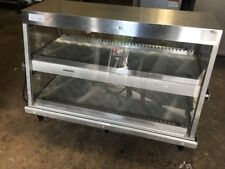 Merco Full Service Countertop Heated Display Case with 3 Pan Dual Shelf 120v